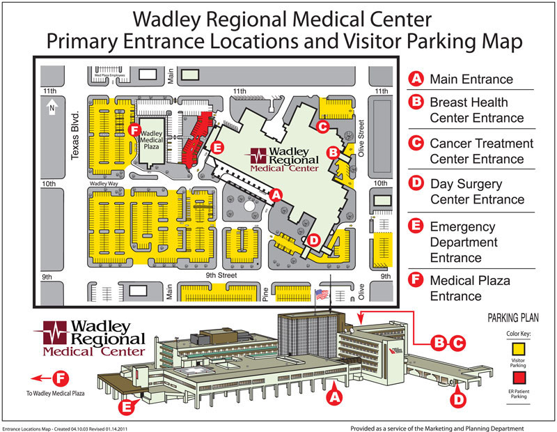 Cancer care map at Wadley