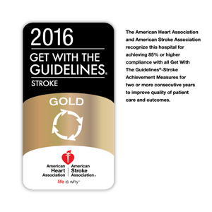Get with the Guidelines Stroke Gold Award