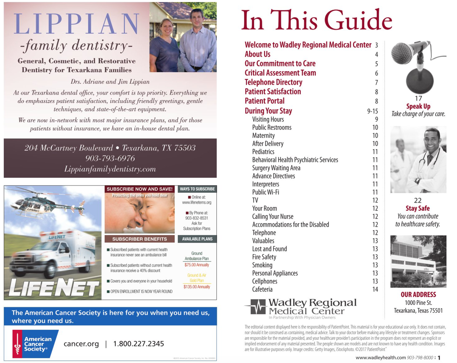 Wadley Patient Guide Cover